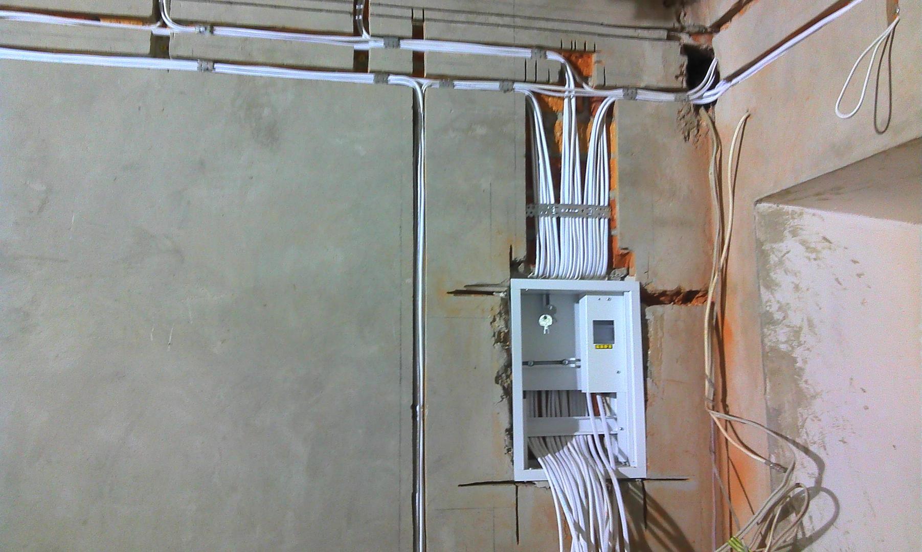 Монтаж электропроводки в автосервисе
