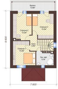 Проект дома КД - 119_Планировка 2 этаж