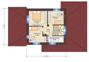 Проект дома КД - 136-1_Планировка 2 этаж
