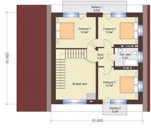 Проект дома КД - 139_Планировка 2 этаж