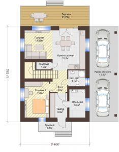 Проект дома КД - 149_Планировка 1 этаж