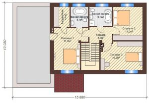 Проект дома КД - 171_План 2 этажа