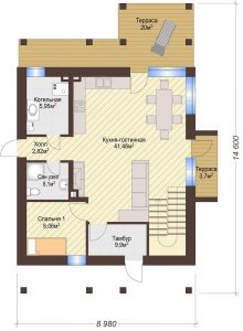 Проект дома КД - 172_Планировка 1 этаж
