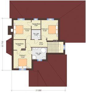 Проект дома КД - 206_Планировка 2 этажа