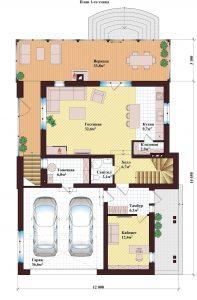 Проект дома КД - 207_Планировка 1 этажа