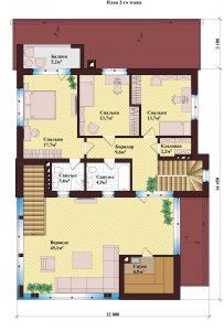 Проект дома КД - 207_Планировка 2 этажа