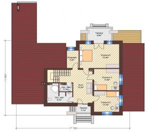 Проект дома КД - 228_Планировка 2 этаж (мансардный)
