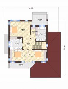 Проект дома КД - 239_Планировка 2 этаж