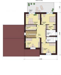 Проект дома КД - 249_Планировка 2 этажа