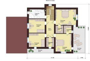 Проект дома КД - 250_1_Планировка 2 этажа