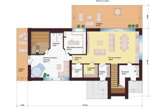 Проект дома КД - 253_Планировка 1 этаж