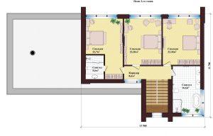 Проект дома КД - 253_Планировка 2 этаж