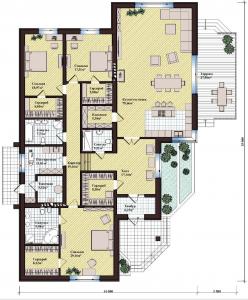 Проект дома КД - 262_Планировка 1 этаж