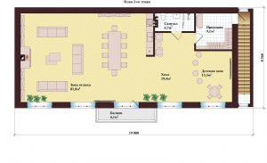 Проект дома КД - 292_Планировка 2 этажа