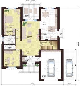 Проект дома КД - 310_Планировка 1 этаж