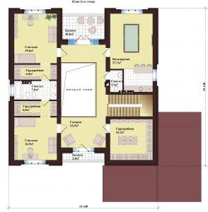 Проект дома КД - 310_Планировка 2 этаж