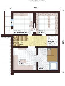 Проект дома КД - 364_ Планировка подвала
