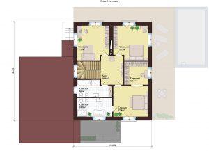 Проект дома КД - 364_ Планировка 2 этажа