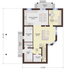 Проект дома КД - 198_Планировка 1 этаж