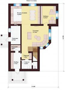 Проект дома КД - 202_Планировка 1 этажа