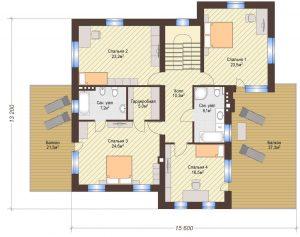 Проект дома КД - 306_Планировка 2 этаж