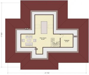 Проект дома КД - 341_Планировка - Мансардный этаж