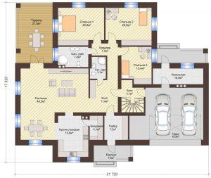 Проект дома КД - 341_Планировка 1 этаж