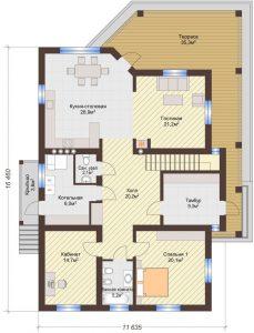 Проект дома КД - 360_Планировка 1 этаж