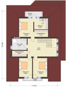 Проект дома КД - 360_Планировка 2 этаж