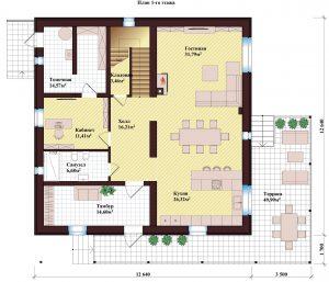 Проект дома КД - 370_Планировка 1 этажа