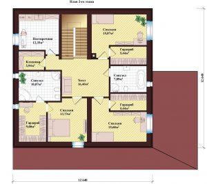Проект дома КД - 370_Планировка 2 этажа
