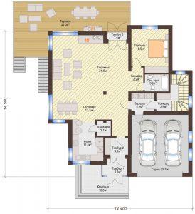 Проект дома КД - 371_Планировка 1 этаж