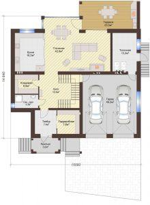 Проект дома КД - 432_Планировка 1 этаж