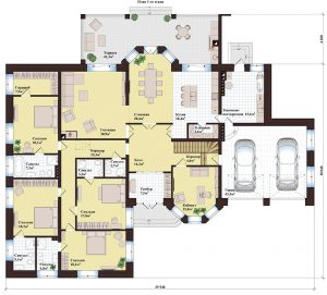 Проект дома КД - 445_Планировка 1 этаж