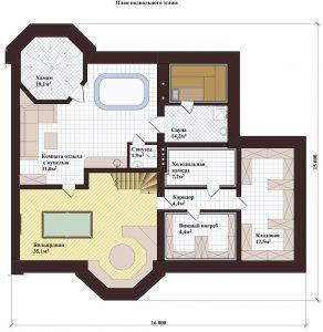 Проект дома КД - 445_Планировка_Подвальное помещение