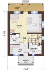Проект дома КД - 119_Планировка 1 этаж