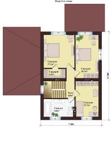 Проект дома КД - 136_Планировка 2 этажа