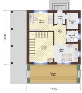 Проект дома КД - 139_Планировка 1 этаж