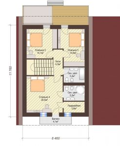 Проект дома КД - 149_Планировка 2 этаж