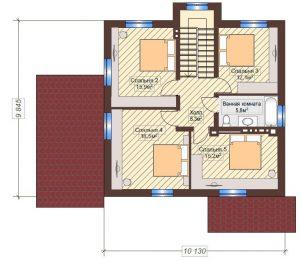 Проект дома КД - 158_Планировка 2 этаж