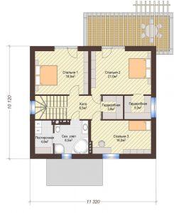 Проект дома КД - 182_Планировка 2 этаж