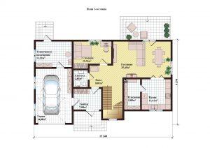 Проект дома КД - 196_Планировка 1 этажа