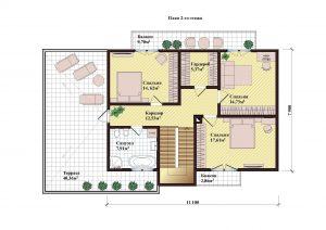 Проект дома КД - 196_Планировка 2 этажа