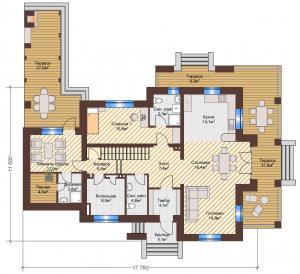 Проект дома КД - 228_Планировка 1 этаж