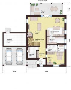 Проект дома КД - 249_Планировка 1 этажа