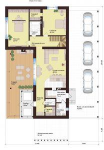 Проект дома КД - 250_Планировка 1 этажа