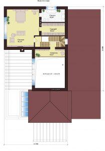 Проект дома КД - 250_Планировка 2 этажа