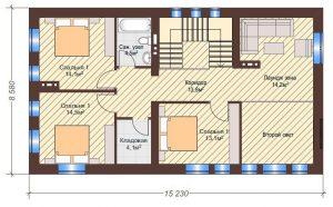 Проект дома КД - 192-1_Планировка 2 этаж