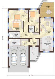 Проект дома КД - 192_Планировка 1 этаж