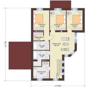 Проект дома КД - 198_Планировка 2 этаж